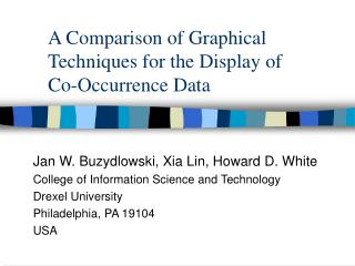 A Comparison of Graphical Techniques for the Display of  Co-Occurrence Data
