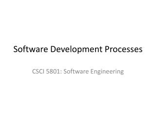 software development processes