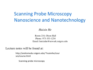 Scanning Probe Microscopy   Principle of Operation,  Instrumentation, and Probes