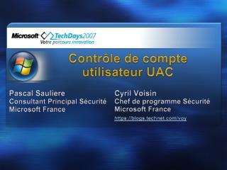 Contr le de compte utilisateur UAC
