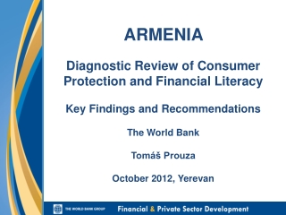 Armenia: Diagnostic Review of Consumer Protection