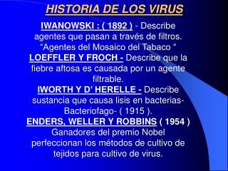 PROPIEDADES VIRICAS