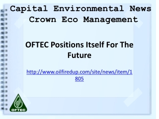 Crown Eco Management, Capital Environmental News