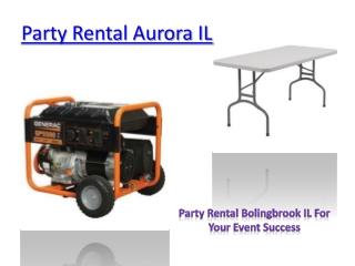 Party Rental Aurora IL