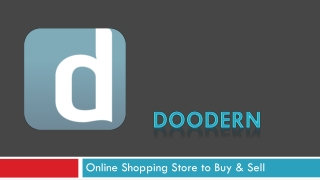 Doodern -  Online Shoppinig Store to sell buy Online