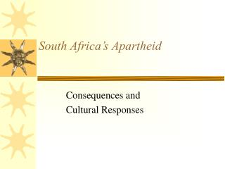 South Africa s Apartheid