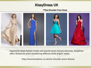 One Shoulder Prom Dresses
