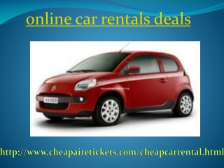 Get the Best Deals for Car Rental