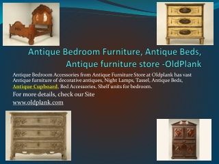 Antique Bedroom, Antique Furniture - Old Plank Road