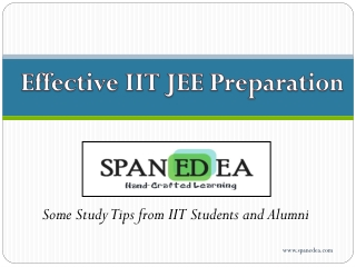 IIT JEE Preparation Tips