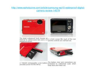 samsung wp10 waterproof digital camera review