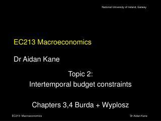 EC213 Macroeconomics Dr Aidan Kane