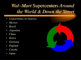 WalMart Supercenters Around the World  Down the Street