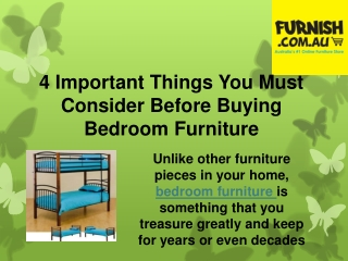 4 Important Things You Must Consider Before Buying Bedroom