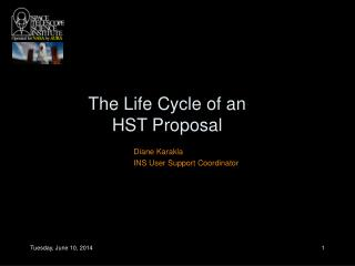 The Life Cycle of an HST Proposal
