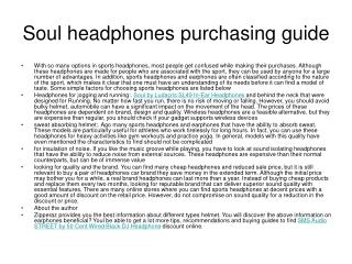 Soul headphones purchasing guide