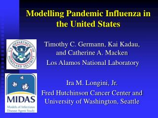 Modelling Pandemic Influenza in the United States