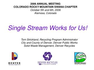 Single Stream Works for Us