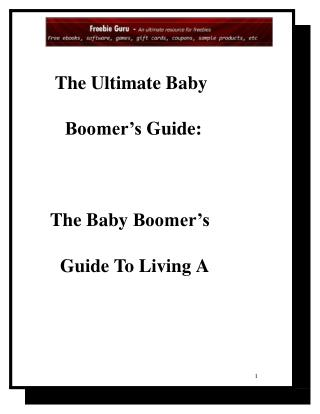 the ultimate baby boomers guide