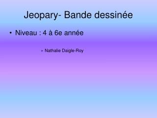Jeopary- Bande dessin
