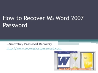 How to Recover MS Word 2007 Password