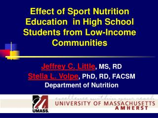 Effect of Sport Nutrition Education in High School Students from ...
