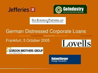 German Distressed Corporate Loans