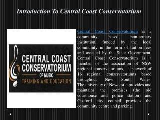 Music Lessons On Central Coast Conservatorium