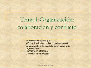 Tema 1:Organizaci