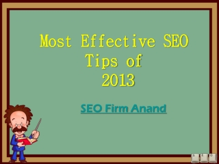 Top SEO Tips of 2013