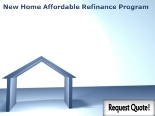 Home Affordable Refinance Program 2013