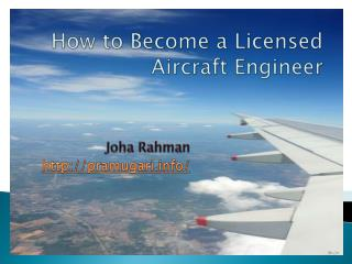 how to become aircraft maintenance engineer