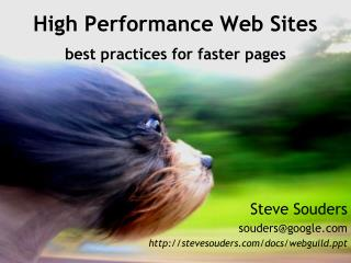 High Performance Web Sites best practices for faster page