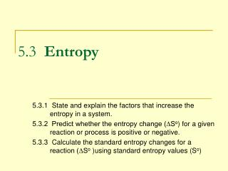 5.3 Entropy