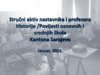 Strucni aktiv nastavnika i profesora Historije Povijesti ...