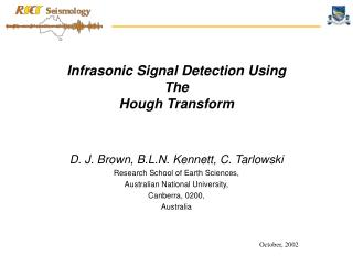 Infrasonic Signal Detection Using The Hough Transform