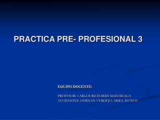 PRACTICA PRE- PROFESIONAL 3