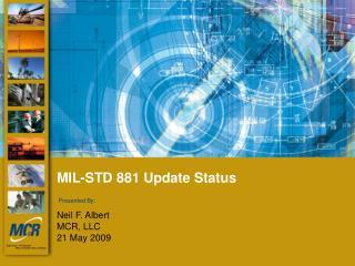 MIL-STD 881 Update Status