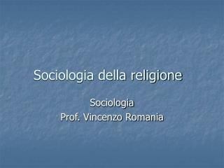 Sociologia della religione