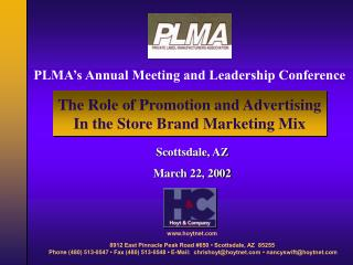 PLMA s Annual Meeting and Leadership Conference
