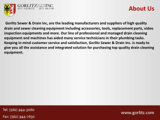 World's Leading Manufacturers Of Drain Cleaning Equipment