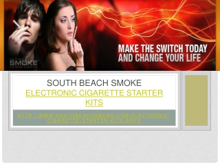 South Beach Smoke - Electronic Cigarette Starter Kits