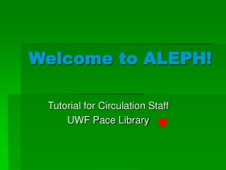 Welcome to ALEPH