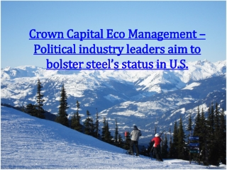 Crown Capital Eco Management – Political industry leaders