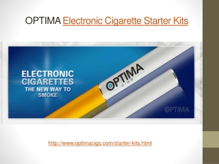OPTIMA Electronic Cigarette Starter Kits