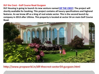 Dlf The Crest Dlf Crest Gurgaon Dlf Crest 9910007460 Dlf The