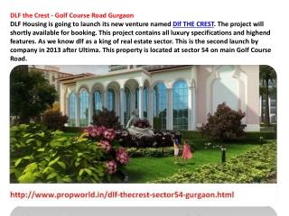 Dlf The Crest Dlf Crest Gurgaon Dlf Crest 9910007460 Dlf The