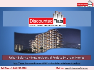 Best Offers are available on 3BHK apartments - Urban Balance