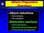 Alkene Preparation Reactions
