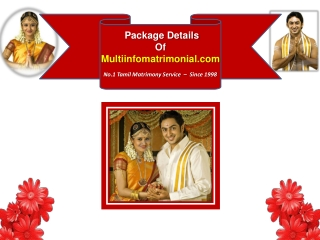 Packages of www.multiinfomatrimonial.com